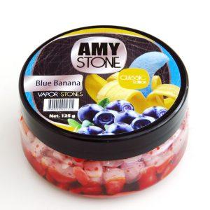 Amy Stone dampstenen - Blue Banana (blauwe banaan)