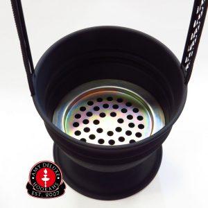 AMY Deluxe Waterpijp Kolendrager - Zwart Mat