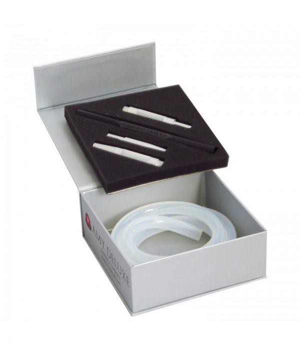 AMY Deluxe Siliconen Slang met Aluminum Mondstuk in Box S238 (zilver)