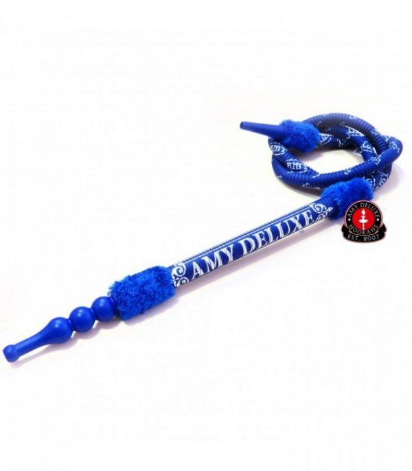 AMY Deluxe luxe waterpijpslang met logo (s200) - Blauw