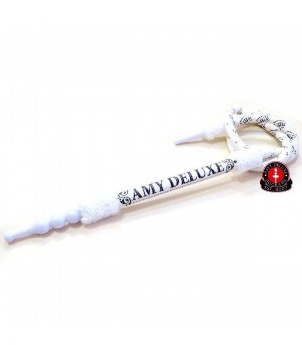 AMY Deluxe Luxe waterpijpslang met logo (s200) - Wit