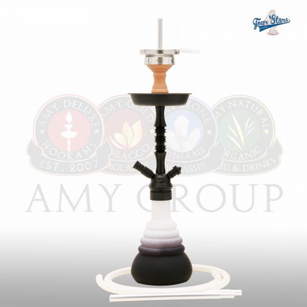 Amy Deluxe 4-stars-420-psmbk-white ( Matt zwart-Wit )